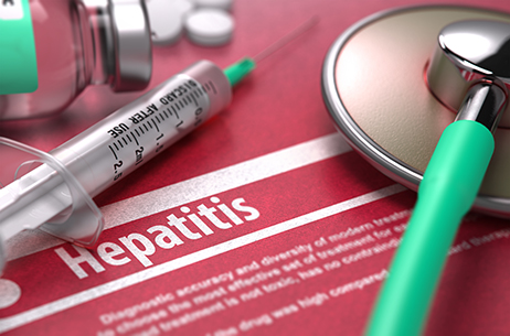 Hepatitis stock art photo