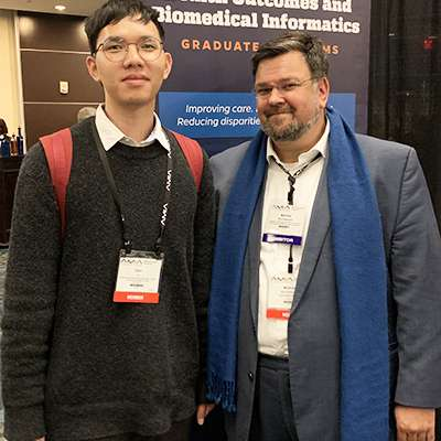 Photo of Qian Li and Mathias Brochhausen, Ph.D.