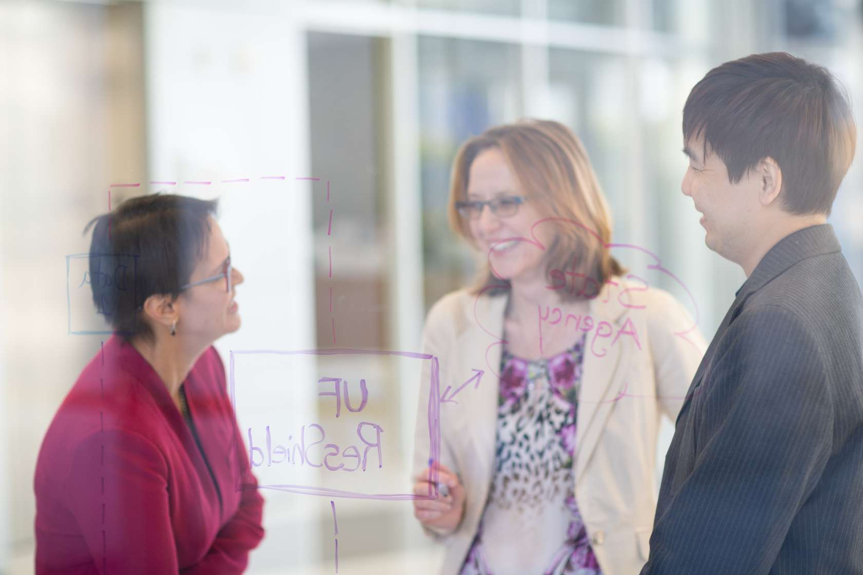 HOIS division director Stephanie Staras, Ph.D., collaborates with other UF Health researchers.