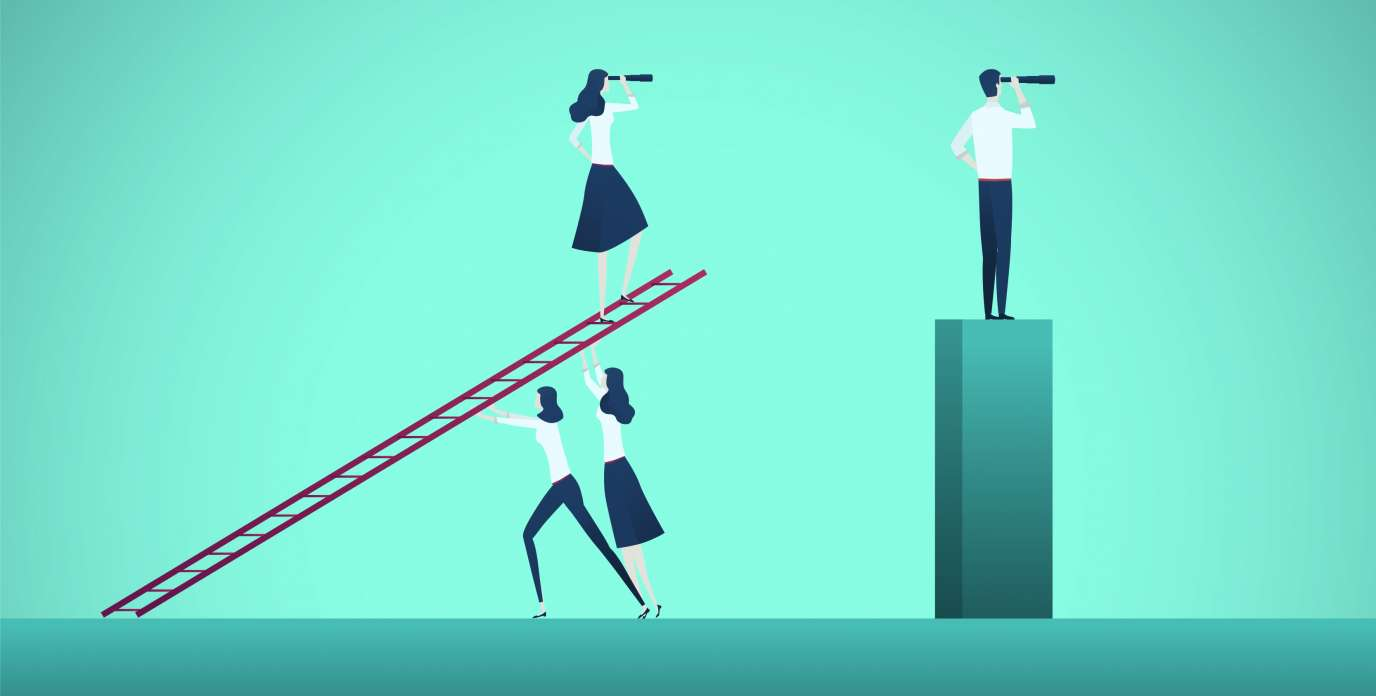 Photo illustration career gender disparities