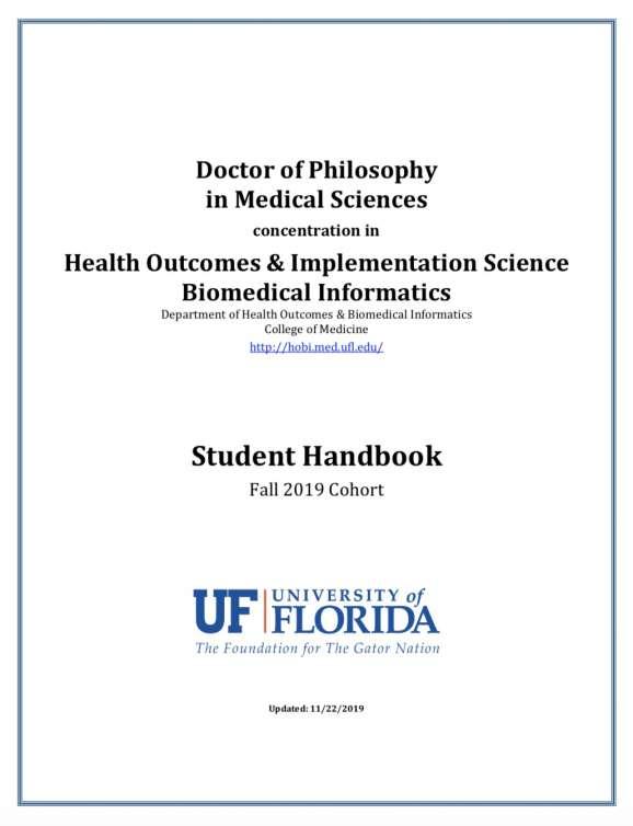 PhD Handbook 2019 Cover
