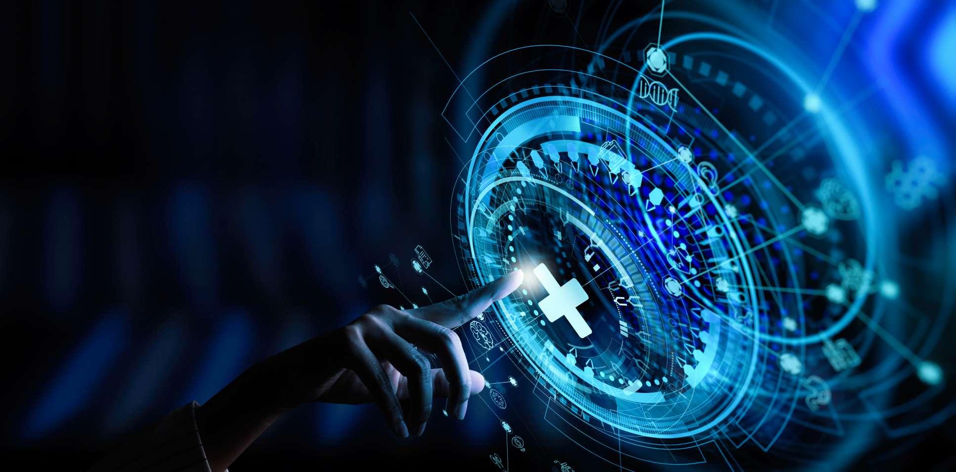 Photo illustration of medical technology data network