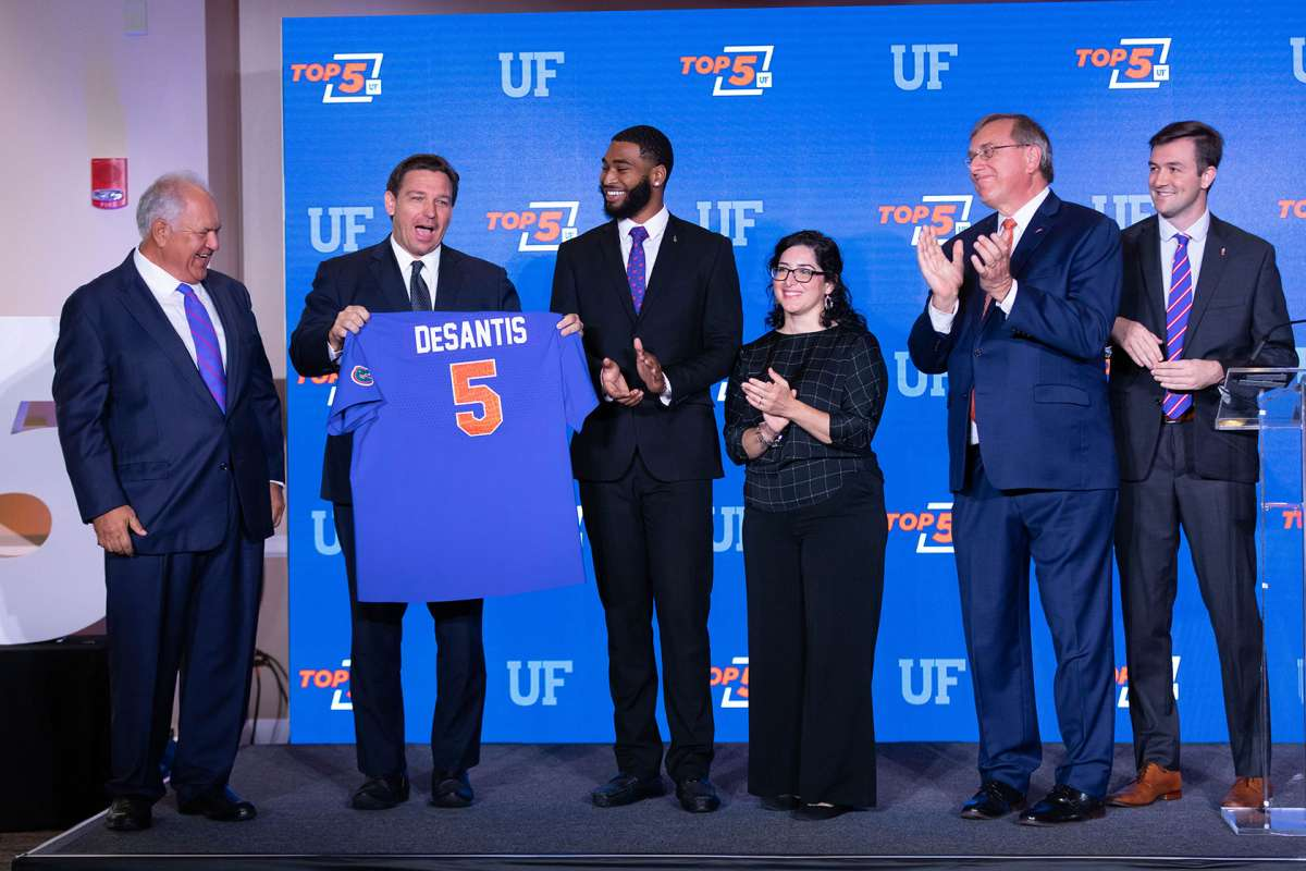 State leaders gather to celebrate UF's ascent to Top 5
